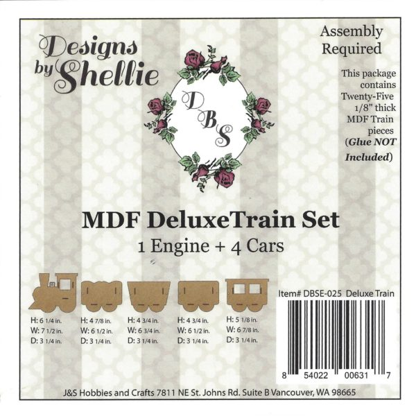 Designs by Shellie Deluxe Train Set