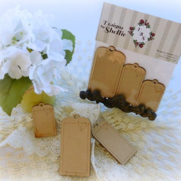 Designs by Shellie Laser Wood Bird Tags 3