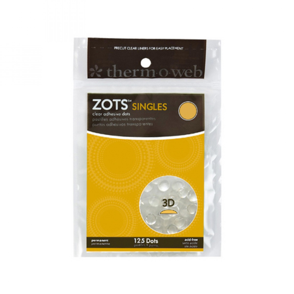 Zots Clear Adhesive Dots Crafts