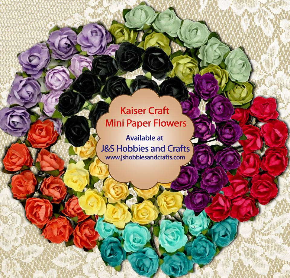 Paper flowers kaisercraft mini paper blooms for Crafts and hobbies ideas