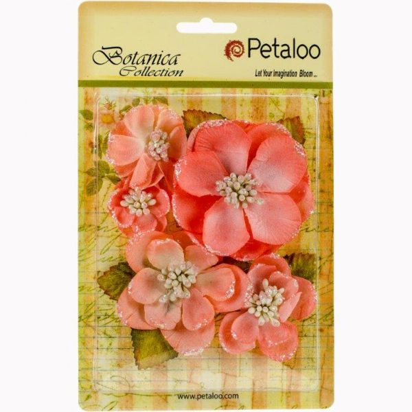 Petaloo Botanica Sparkling Glitter Coral Magnolia Mix