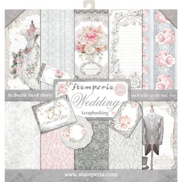 Shabby Chic Wedding Scrapbook Paper