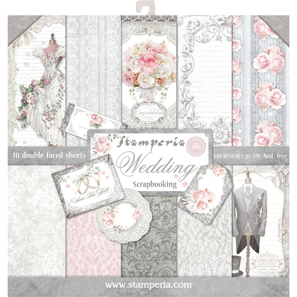 12x12 wedding scrapbook paper - Stamperia Double Sided Paper Pad 12x12 Wedding