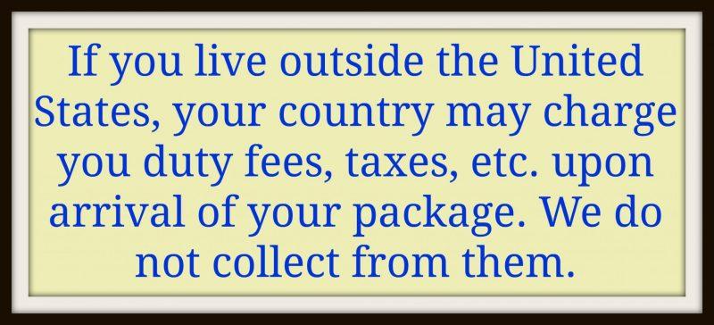 Message to International Customers